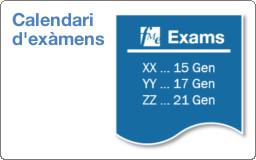Calendari d'exàmens