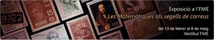 Exposició segells Matemàtics a l'FME