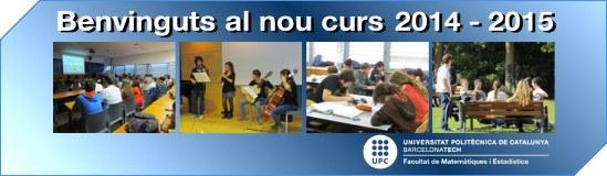 Benvinguts curs 2014-15