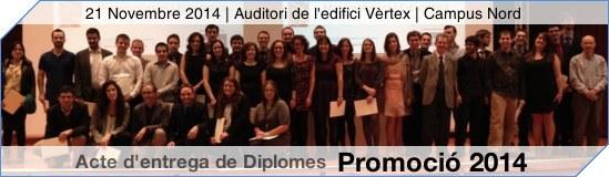 Lliurament diplomes 2014