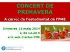 Pòster concert primavera 2014