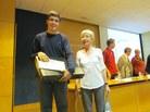 Segon premi: Robert Florido i la tutora Dolors Ametller de l'IES Poeta Joan Maragall de Barcelona
