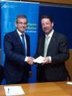 El degà Jordi Quer i el vicerector de Personal Acadèmic de la UPC