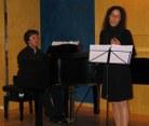La soprano Alba Fortuny i Xavier Pardo al piano