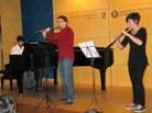 Eduard Almacelles (piano), Aina Cuixart (oboè) i Xavier Ramos (flauta)