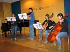 Paula Subías (flauta), Guillem Alsina (violí), Marina Garrote (violoncel) i Laia Casanellas (guitarra)