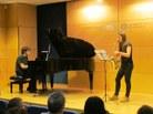 Gisela Espigulé al saxo alt i el Tomàs Sanz al piano