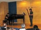Xavi Gràcia al fagot i Eduard Almacellas al piano