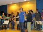 Xavi Ramos, coordinador del concert, agraint la participació