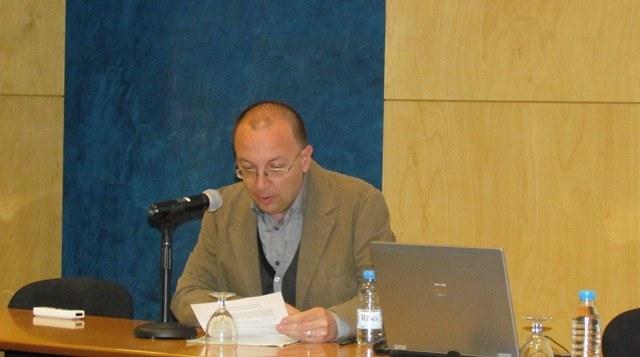 Presentació del segon ponent a càrrec de Pedro Delicado, cap d'estudis d'Estadística de l'FME
