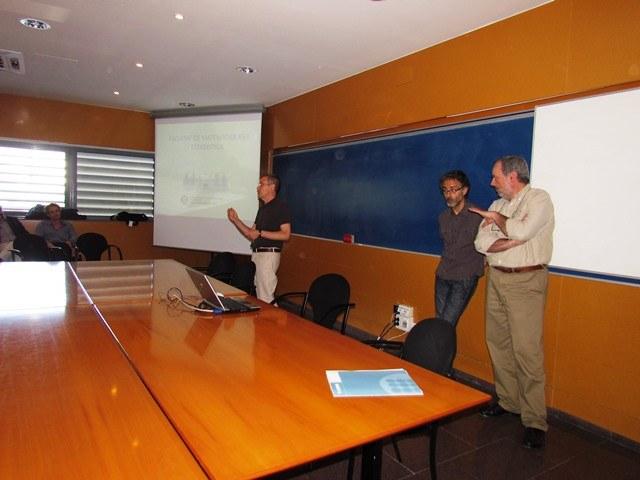 Presentació de la jornada a càrrec de Jordi Quer, Javier Heredia i Jaume Soler