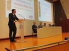 Adrià Recasens fa el discurs en representació a la Llicenciatura en Matemàtiques