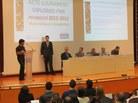 Ivan Geffner fa el discurs en representació al Grau en Matemàtiques