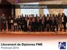 Foto de grup titulats estudis Matemàtiques
