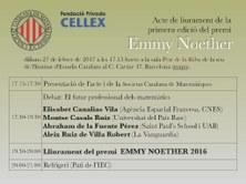 Acte de lliurament del 1r Premi Emmy Noether per a TFG de Matemàtiques organitzat per la SCM