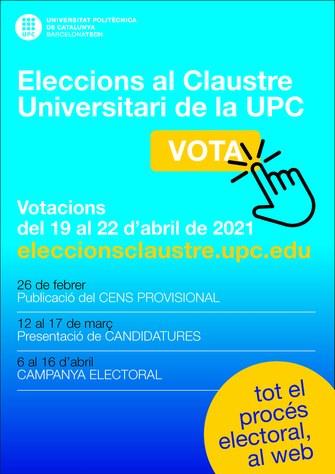 Convocatòria per a l'elecció dels representants al Claustre Universitari - UPC 2021