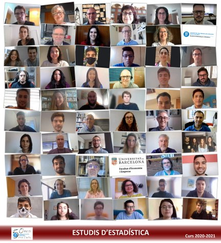 Foto de grup dels estudis d'estadística FME 2020-2021