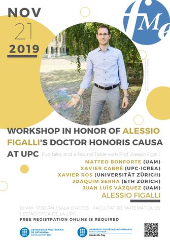 """Acte d'investidura com a doctor honoris causa del Prof. Alessio Figalli: invitació a la cerimònia i presentació del """"workshop Figalli"""""""