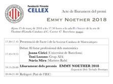 Lliurament del premi Emmy Noether 2018