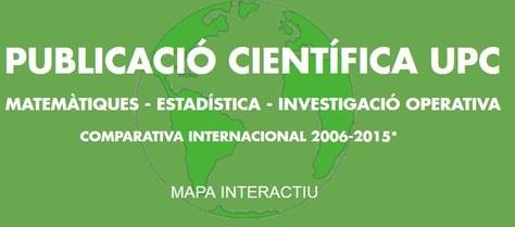 Mapa interactiu sobre  la situació de la producció científica en matemàtiques, estadística i investigació operativa (2006-2015)