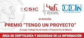 "Mencions especials per a dos TFG/TFM d'estudiants FME a la 3a edició del premi ""TENGO UN PROYECTO"" - Área de Criptología y Seguridad de la Información - 2020"