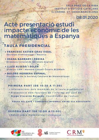 Presentació de l'estudi de l'impacte socieconòmic de la recerca en matemàtiques a Espanya