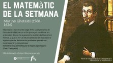 Matemàtic de la setmana -  Ghetaldi