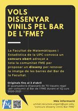 Vols dissenyar vinils pel Bar de l'FME?