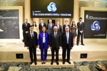 Xavier Ros-Otón rep el premi Rubio de Francia de la RSME